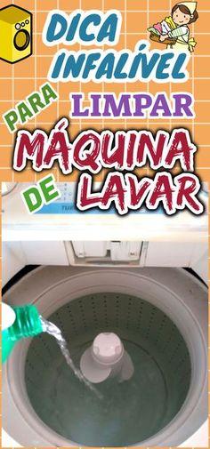 Quando se utiliza a máquina de lavar roupa, podemos esquecer que também necessita de uma boa limpeza. #dicas #truques #receitas #caseiro #casa #limpeza #maquinadelavar #comolimparmaquinadelavar #maquinadelavaroupa #dicacaseira Mata Mosquito, Nova, Clean House, Good To Know, Cleaning Hacks, Washing Machine, Household, Sweet Home, Home Appliances