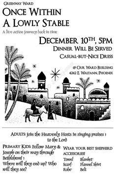 A Night in Bethlehem Poster Advertisement Digital CUSTOM PRINTABLE Church Baptist Christian Mormon LDS Ward Activityo