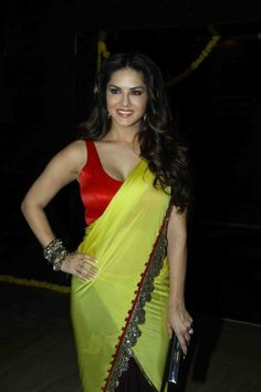 Sunny leone in yellow saree  #firozs