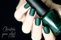 OPI: Christmas Gone Plaid (Matte) - not matte but on my toes right now! dark so doesn't always look green