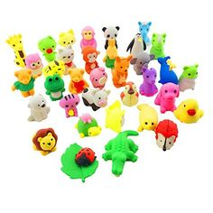 "Sc0nni 35 Adorable Puzzle Animals Erasers - Non-Toxic Best for Kids Fun Games and Collection (35 Items Will Be Randomly Selected from Image Shown):   They can not only be eraser, children can decorate their little house. This will be a perfect gift for your child <br> <br>Each has 35 different animal erasers. <br> <br>They can erase the pencil marks easily. <br> <br>Size approx. 1"" x 1"",some may be smaller or loner than 1 inches. <br> <br><b>Different Animal Collection<b> <br> <br>The ..."