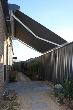 Shade Solutions Garda Custom Made Folding Arm Awning In Solaire