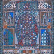 La Maison des Carrés Hermès   140 x 140 cm scarf Tapis Persans blue