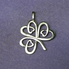Celtic Shamrock silver lucky charm pendant by YANKA-arts-n-crafts.deviantart.com on @deviantART