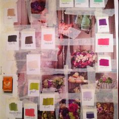 Sketchbook page using photography from Style magazine to develop a colour palette!