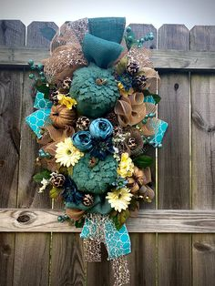 Thanksgiving Farmhouse Swag, Farmhouse Fall Swag, Blue Fall Pumpkin Swag, Rustic Pumpkin Wreath, Teal Blue Fall Decor, Fall Home Decor blue #farmhouse #rustic #thanksgiving #fall #homedecor #etsywreathshop #swag #fallpumpkinswag #farmhouseblueswag #rusticbluewreath #google #holidaze #floralfallswag #entertaining #welcome #frontdoordecor #instadecor #porch #falldecor #cheetahpumpkins #bluepumpkins