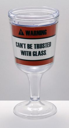 11 oz Heavy Weight BPA-Free Acrylic Wine Goblet - Orange Safety Can't Be Trusted With Glass™, $14.99