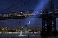 The Dr Conners across the bridge / spider man