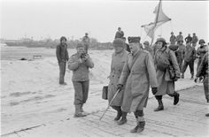 L'arrivée de la 2e DB, commandée par le général Leclerc, sur les plages de Normandie. 31 juillet 1944