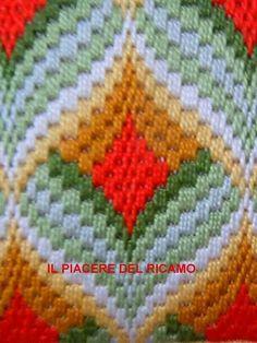 Bargello Patterns, Bargello Needlepoint, Needlepoint Stitches, Crochet Stitches, Needlework, Folk Embroidery, Embroidery Patterns, Canvas Purse, Crochet Squares