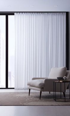 8 Simple Window Dressing Ideas for the Minimalist Home by Continental Window Fashions Bedroom Curtains With Blinds, Patio Blinds, Living Room Blinds, House Blinds, Curtains Living, Living Room Windows, Curtains And Blinds Together, Privacy Blinds, Living Room Designs