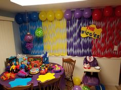 The wiggles birthday party Wiggles Party, Wiggles Birthday, Baby Boy First Birthday, 3rd Birthday, Wiggles Cake, The Wiggles, 1st Birthday Party Decorations, Birthday Themes For Boys, Birthday Ideas