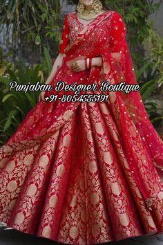 ❤️Shop for latest bridal lehenga choli for bride 2021at punjaban designer boutique. 👉 📲 CALL US : + 91 - 8054555191 #lehengalove #lehenga #Lehengas #lehengadesigns #lehengacholi #lehengacholionline #lehengainspiration #lehengastyle #lehengablouse #lehengablousedesigns #lehengawedding #weddinglehengas #weddinglehenga #bridallehengas #bridalcollections #bridalcouture #designerlehenga #torontowedding #canada #uk #usa #australia #italy #singapore #newzealand #germany #punjabiwedding Latest Bridal Lehenga, Lehenga Wedding, Bridal Lehenga Choli, Bridal Wedding Dresses, Bridal Outfits, Bridal Style, Chandigarh, Heavy Lehenga, Punjabi Fashion