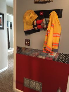 Border on longest wall with name in between Fireman Room, Firefighter Bedroom, Firefighter Decor, Paisley Bedroom, Fire Truck Bedroom, Monkey Room, Truck Room, Kids Bedroom, Car Bedroom
