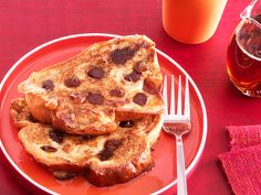 Chocolate Chip-Date French Toast...again, yum!
