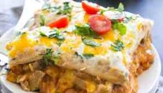 Steak and Queso Enchilada Casserole - Easy dinner for the holidays and great for gatherings. This cheesy casserole is baked to perfection. Ground Beef Taco Seasoning, Ground Beef Tacos, Beef Queso Recipe, Mexican Dessert Easy, Easy Enchilada Casserole, Quick Casseroles, Canning Diced Tomatoes, Peanut Butter Chocolate Bars, Just Eat It