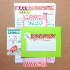 washi tape, coordinating stationery