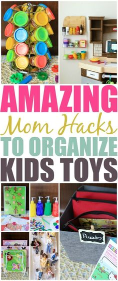 Ditch the overwhelming clutter and mess of your kids toys. Check out these amazing mom hacks that will organize your child's toys & crafts in a snap.