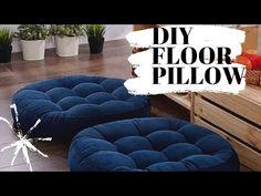 DIY large FLOOR PILLOW||Home decor Kenya🇰🇪||Floor cushion & pouf|| Girlnextdoor channel