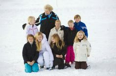 17 February 2014 Members of the Dutch Royal Family posed for the press during their annual holiday in Lech