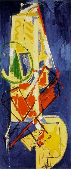 Hans Hoffman. abstract painting. Chimbote Mural 1950 .