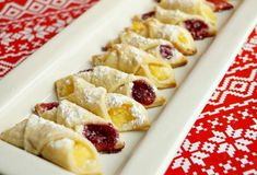 Kolachy Cookie Recipe - Kolachy Cookies are a traditional Eastern European cookie made with a light and fluffy cream cheese dough and then stuffed with fruit or… Kolachy Cookie Recipe, Kolachy Cookies, Cheese Cookies, No Bake Cookies, Shortbread Cookies, Cake Cookies, Kolachi Recipe, Gourmet Recipes, Cookie Recipes