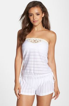 Lucky Brand 'Natural Connection' Strapless Romper available at #Nordstrom