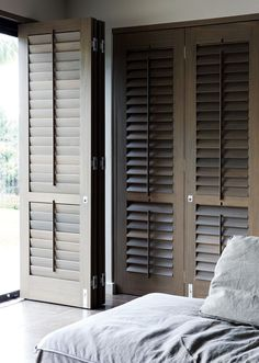 Bown wooden louvers