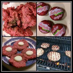 Babybel Stuffed Burger - Pinterest365   Pinterest365