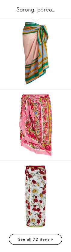 """""""Sarong, pareo..."""" by lence-59 ❤ liked on Polyvore featuring accessories, scarves, blue stripe, diane von furstenberg, tie scarves, diane von furstenberg scarves, blue scarves, blue shawl, red and colorful scarves"""