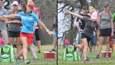 Chicks throwing discs. Paige Vs. Catrina - The Never-Ending Battle | Professional Disc Golf Association #discgolf #pdga