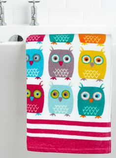 Owl Bath Towel Pinned by www.myowlbarn.com