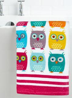 Owl Bath Towel Pinned by www.myowlbarn.com