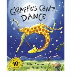 The bestselling Giraffes Can't Dance is now a board book!Giraffes Can't Dance is a touching tale of Gerald the giraffe, who wants nothing more than to dance. With crooked knees and thin legs, it's harder for a giraffe than you would think. Guy, Gerald The Giraffe, Giraffes Cant Dance, Books To Read, My Books, Dance Books, Song Books, Audio Books, Richard Scarry