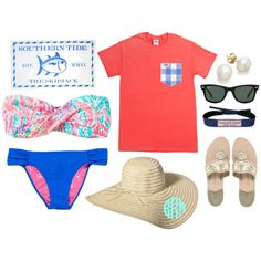 """water tubing!"" by the-southern-prep on Polyvore"