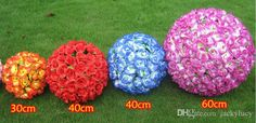 30 CM 12inch Elegant Artificial Flower Rose Silk Flowers Kissing Balls For Wedding Party Decoration Supplies 2015 New Arrival-in Decorative Flowers & Wreaths from Home & Garden on Aliexpress.com | Alibaba Group