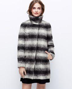 Tall Ombre Plaid Coat