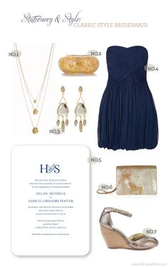 Stationery & Style: Classic Style Bridesmaid