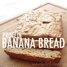 Protein Banana Bread {Clean Eating}   Ingredients: -2 mashed bananas, 3 eggs, half a cup of oats -half a cup of all natural peanut butter 1 scoop of vanilla protein powder 1 tsp of baking powder 1 cup of oat flour 1/4 cup of applesauce optional: 2 TB of honey