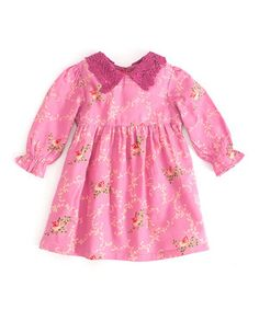This April Cornell Pink Floral Sweetheart Dress - Infant by April Cornell is perfect! #zulilyfinds