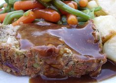 cashew nut roast by veganfamily, via Flickr. looking for some vegan/meatless ideas for christmas. this actually looks nummy for anytime of year1