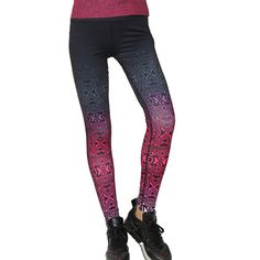 Hot Sales! Fashion Print Sporting Leggings Workout Women Skinny Elastic Pants Fitness Legging 6 Styles Workout Clothes For Women