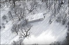 Aerial view of the Farnsworth House