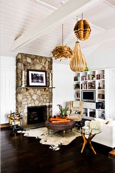Beautiful grouping of objects in this living room.