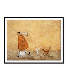 Ernest, Doris, Horace and Stripes Framed Print - Sam Toft Wall Art - Private sales | BrandAlley