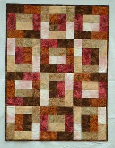 a great pattern for batik fabrics. Love the movement created by using VALUE in this quilt.