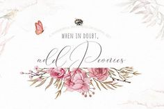 Add Peonies - Watercolor Graphic Set by Iulia paints on @creativemarket