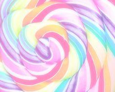 Pastel Lollipop close up.
