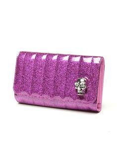 Lady Vamp Wallet Electric Purple Sparkle