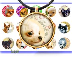 Chihuahua and patterns - Digital bottle caps images-1'' circles for Jewelry Making Digital Collage Sheets Instant Download BUY 2 GET 1 FREE by BonCraft on Etsy